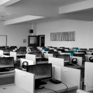 empty call center office